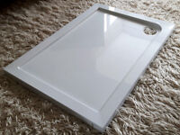 STONE SHOWER TRAY 1000mm x 700mm. NEW. SENSIBLE OFFER ACCEPTED!
