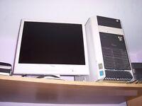 Fujitsu Siemens Computer and LCD Monitor