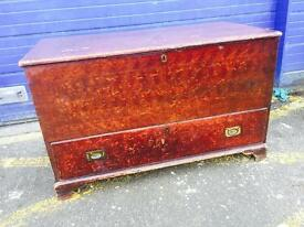 Stunning Antique Pine Mule Chest/ Blanket Box/ Coffer
