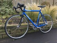 ribble road bike 54 cm aluminium frame campagnolo 18 speed gears with d lock and lights