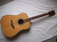 Vintage V1400 Acoustic Guitar (All Solid Woods & Grover Tuners)