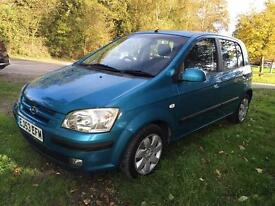 Getz 1.1 only 34.000 miles 12 months mot no advisory !