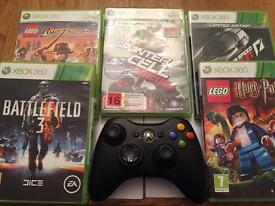 XBOX Hand Control + 5 Games