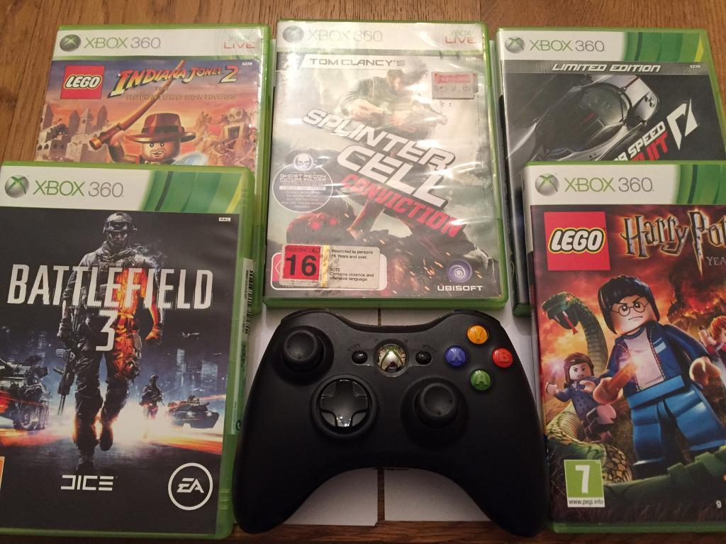 XBOX Hand Control + headset + 5 Games