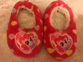 My little pony slippers 50p (ignore the £1)