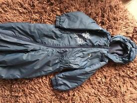 Trespass kids Padded waterproof suit 18-24 months
