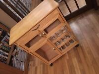 Wooden butcher's trolley