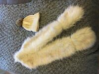 Womens Fur and Hat