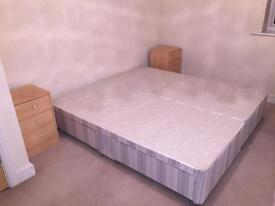 Bed with Orthopedic mattress with side cabinets