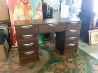 SLIDEROBES WALNUT DRESSING TABLE DESK