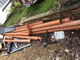 Underground waste pipe