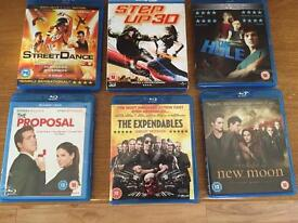 Selection of blu ray DVDs buy all for £12