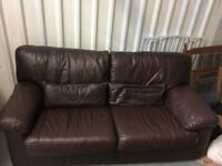 2 seater leather sofa and recliner chair