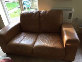 2 seater brown faux sofa - dimensions 1m60 x 90. Pick up required.