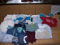 BUNDLE OF FIRST SIZE AND NEWBORN NEUTRAL AND BABY BOY CLOTHES EXCELLENT CONDITION
