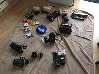Assorted camera lenses