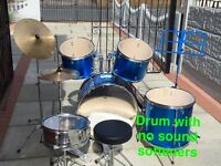 Blue rockburn drum set with all accessories you will need