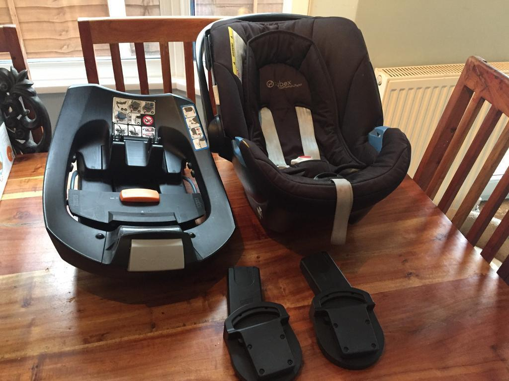 Mamas and Papas Cybex Aton Car Seat and Isofix Bracket