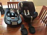 Mamas and Papas Cybex Aton Car Seat and Isofix Bracket