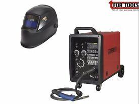 Sealey SUPERMIG180 Pro MIG Welder 180Amp 230V + Auto Darkening Helmet