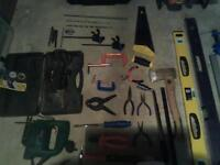 Job lot of power tools and hand tools.