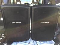 """CARLSBRO GAMMA 12"""" 300W ACTIVE SPEAKERS WITH COVERS"""