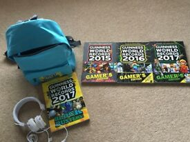Guinness World Records Backpack, Headphones & Book & Gamer Books