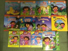 Selection of Dora books and DVD