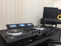Full DJ Set Up-NS7iii-KRK ROKIT 8-gorilla Stands-XLR Cables-Pioneer HDJ Headphones