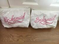 2 bridesmaid makeup bags