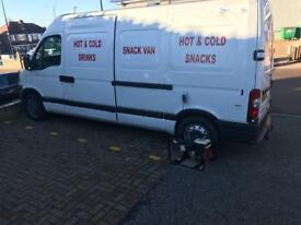 Mobile drivable. Catering. Van