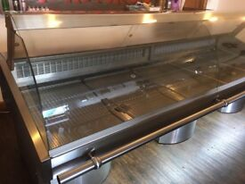 Serve over counter refrigerator, glass dosplay, chiller/cooler