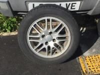 Ford 4 stud alloy wheels and good tyres