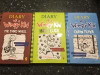 Diary of a Wimpy Kid hardback kids books x 4