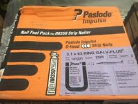 2 large boxes of Paslode nails. Selection of sizes