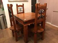 Free dining table and chairs.