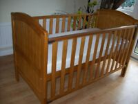 TWINS, 2 x BABIES R US HENLEY COTBED/ TODDLER BED +/- COT BED MATTRESS, BEDDING ALSO AVAILABLE