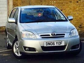 2006 TOYOTA COROLLA 1.6 Vvti*COLOUR COLLECTION*5 DOOR*7 SERVICE STAMPS*12 MONTHS MOT*FREE WARRANTY*
