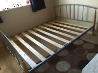 Metal king size bed frame (Argos)