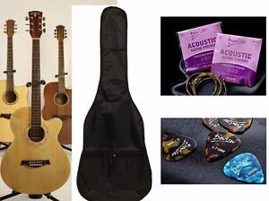 Acoustic Guitar for Beginners 39 inch Natural iMusic50-hair scratch Free Bag, String set, 5 picks iMusicGuitar