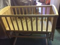 Cot, high chair and crib and vibrating chair
