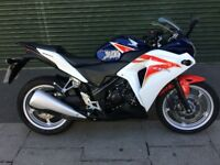 Honda CBR250R with ABS, 5k miles from new!