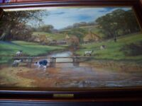 oil painting place on board by the late RON BEATON 1919-1995