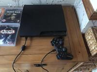 PS3 160gb console and games