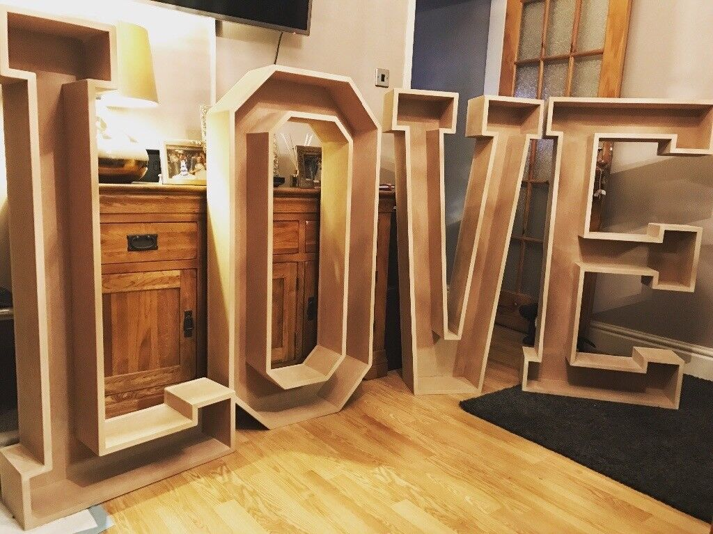 4ft MDF unpainted LOVE SIGN
