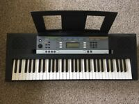 Yamaha YPT-240 Full Size Keyboard with adapter and music rest - As good as new