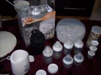 BUNDLE OF TOMMEE TIPPEE CLOSER TO NATURE BOTTLE FEEDING EQUIPMENT SOME NEW GREAT CONDITION