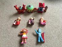 In the night garden figures and small ninky nonk train