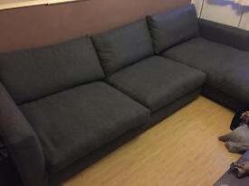 Large L shape Grey Sofa