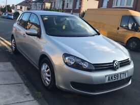 VW golf, 59 plate, 1.4 petrol for sale
